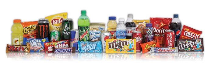 vending machine product list